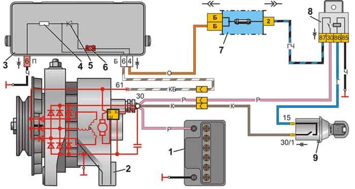 реле регулятор генератора исузу эльф - База схем.